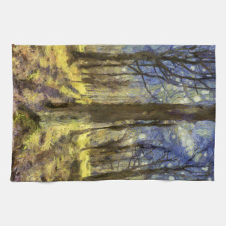 Linge De Cuisine Art de forêt de Vincent van Gogh