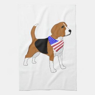 Linge De Cuisine Bandanna patriotique de drapeau américain de chien