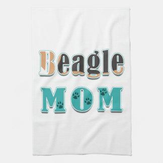 Linge De Cuisine Blanc noir de Brown de maman de beagle