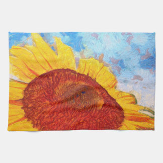 Linge De Cuisine Bonjour art de tournesol de Sun