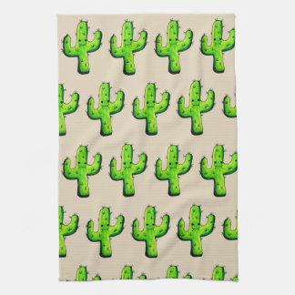 Linge De Cuisine Cactus à la mode de Kawaii d'aquarelle