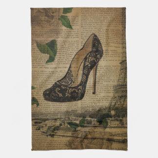 Linge De Cuisine Chaussures girly vintages de Tour Eiffel de Paris