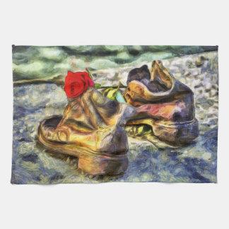 Linge De Cuisine Chaussures sur le Danube Van Gogh
