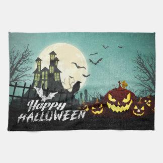 Linge De Cuisine Ciel nocturne hanté éffrayant Halloween de costume