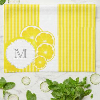 Linge De Cuisine Citrons décorés d'un monogramme pour la limonade