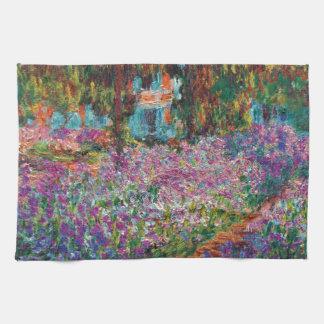 Linge De Cuisine Claude Monet - iris en beaux-arts du jardin de