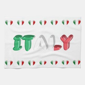 Linge De Cuisine Coeurs italiens