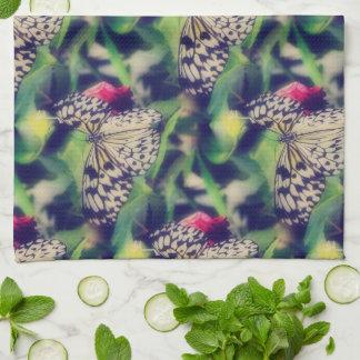 Linge De Cuisine Collage de papillon