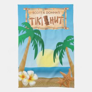 Linge De Cuisine Conception d'été de hutte de Tiki