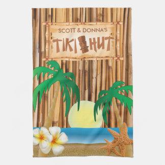 Linge De Cuisine Conception en bambou de bâton de hutte de Tiki