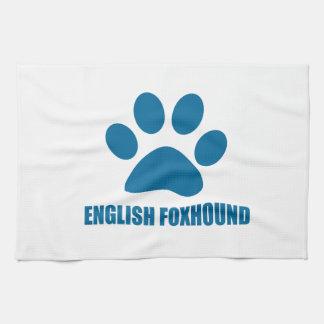 LINGE DE CUISINE CONCEPTIONS DE CHIEN DE FOX-HOUND ANGLAIS