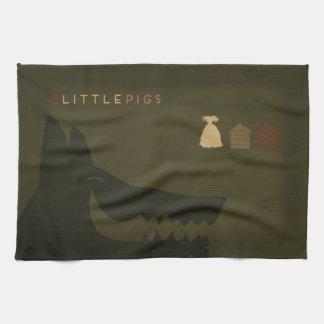 Linge De Cuisine Contes de fées minimalistes | les 3 petits porcs