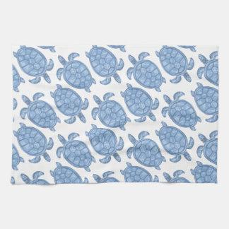 Linge De Cuisine Copie bleue de tortue