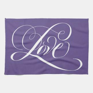 Linge De Cuisine Couleur pourpre ultra-violette de calligraphie