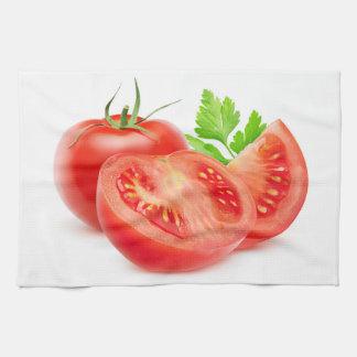 Linge De Cuisine Coupez les tomates