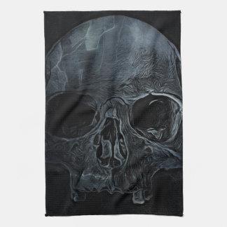 Linge De Cuisine Crâne squelettique médical gothique de rayon X