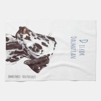 Linge De Cuisine D est pour le Dalmate - foie et blanc
