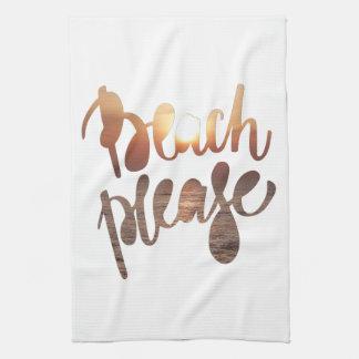 Linge De Cuisine De la PLAGE typographie et citation d'amusement