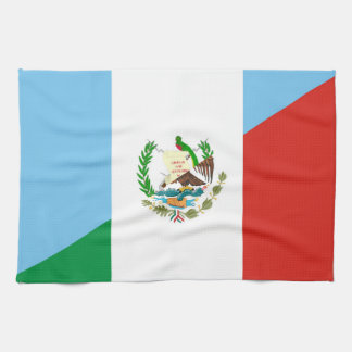 Linge De Cuisine demi de symbole de drapeau du Guatemala Mexique