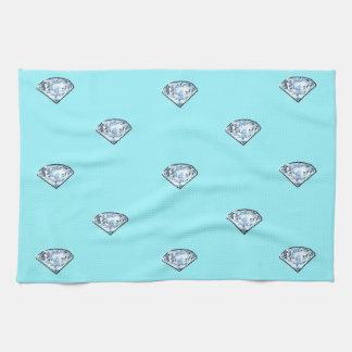 Linge De Cuisine Diamants brillants chics élégants Girly
