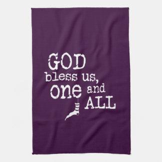 Linge De Cuisine Dieu nous bénissent un et tout le Noël
