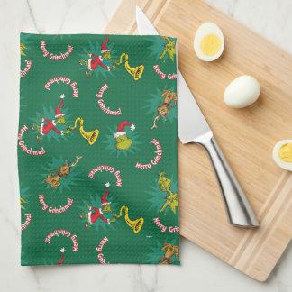Linge De Cuisine Dr. Seuss | le joyeux Grinchmas motif de Grinch |
