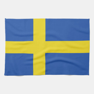Linge De Cuisine Drapeau de la Suède