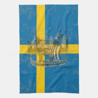 Linge De Cuisine Drapeau et symboles de la Suède ID159