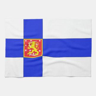 Linge De Cuisine Drapeau finlandais
