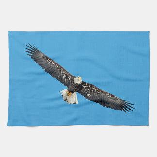 Linge De Cuisine Eagle chauve en vol