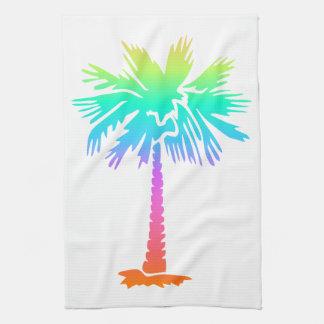 Linge De Cuisine été tropical de palmier au néon coloré
