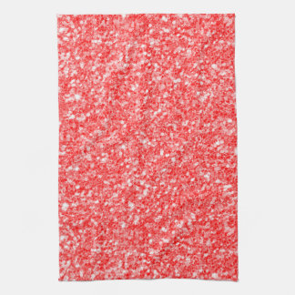 Linge De Cuisine Étincelles de blanc et motif rouge de parties