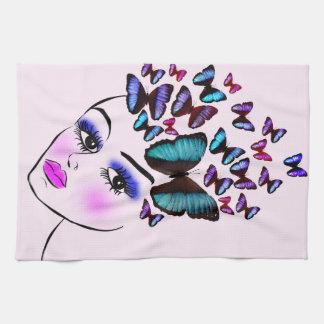 Linge De Cuisine Femme papillon