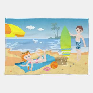 Linge De Cuisine Fête d'anniversaire de plage pour des enfants