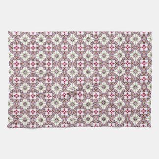 Linge De Cuisine Fleur de tuile de Barcelone avec les rubans roses