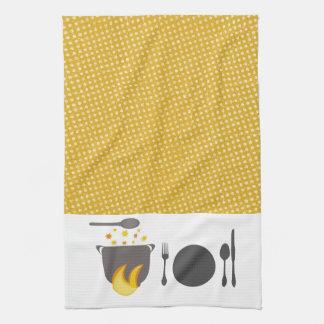 Linge De Cuisine Fourchette de ébullition de plat de pot de plat de