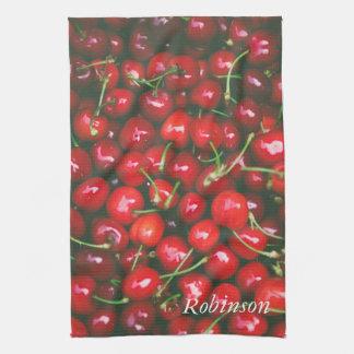 Linge De Cuisine Fruit de rouge de cerise personnalisé