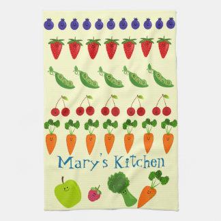 Linge De Cuisine Fruits et légume personnalisés