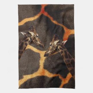 Linge De Cuisine Girafes sur l'arrière - plan exotique de girafe,