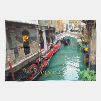 Linge De Cuisine Gondoles Venise, Italie