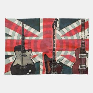 Linge De Cuisine Guitare électrique d'Union Jack de drapeau de