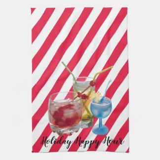 Linge De Cuisine Heure heureuse de sucre de canne de Noël