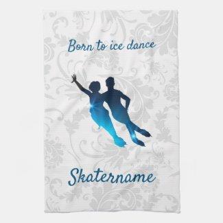 Serviette pour lames danse sur glace bleue