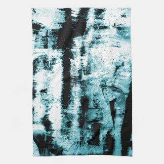 Linge De Cuisine Illumination bleue d'abstraction