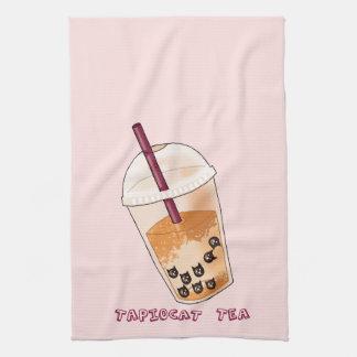 Linge De Cuisine Illustration de calembour de thé de Tapiocat