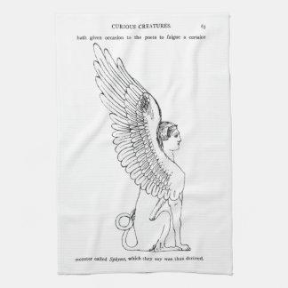 Linge De Cuisine Illustration vintage de sphinx