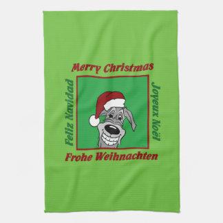 Linge De Cuisine Irlandais Wolfhound Noël