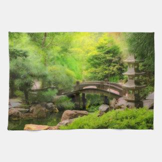 Linge De Cuisine Jardin japonais - l'eau sous le pont