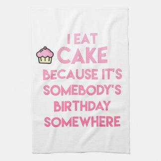 Linge De Cuisine Je mange le gâteau ! Citation drôle