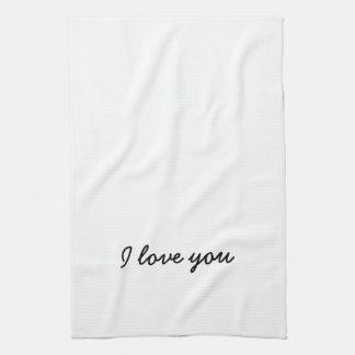 Linge De Cuisine Je t'aime serviette. Son et sien - voir l'autre